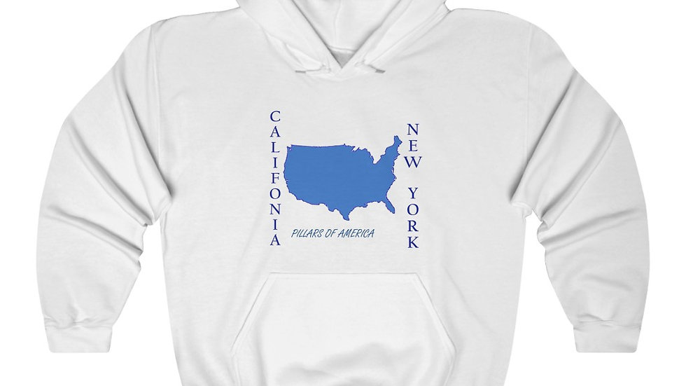 CALI/NY Pillars Of America Unisex Heavy Blend™ Hooded Sweatshirt
