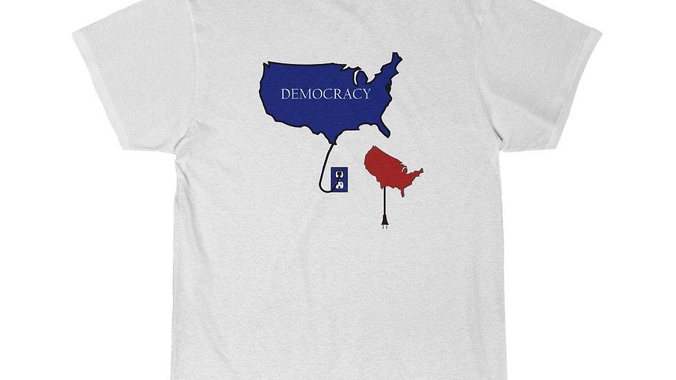 Plug Into Democracy Short Sleeve Tee