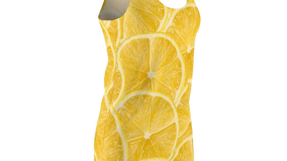Sunshine Lemon Slice Racerback Dress
