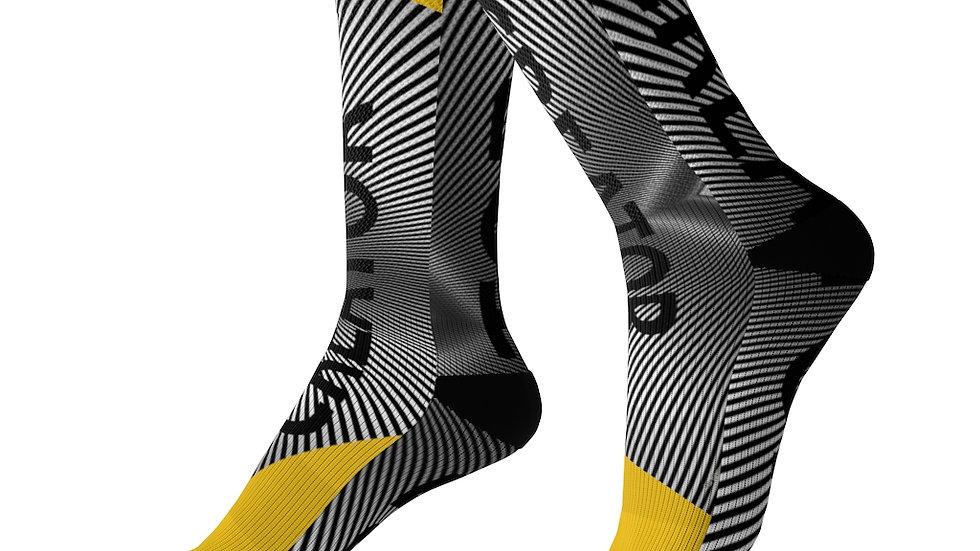 Y Arts Yellow Accent Creator Socks