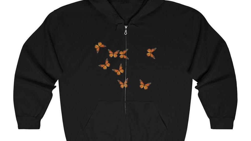 Unisex Marnarch  Butterfly Heavy Blend™ Full Zip Hooded Sweatshirt