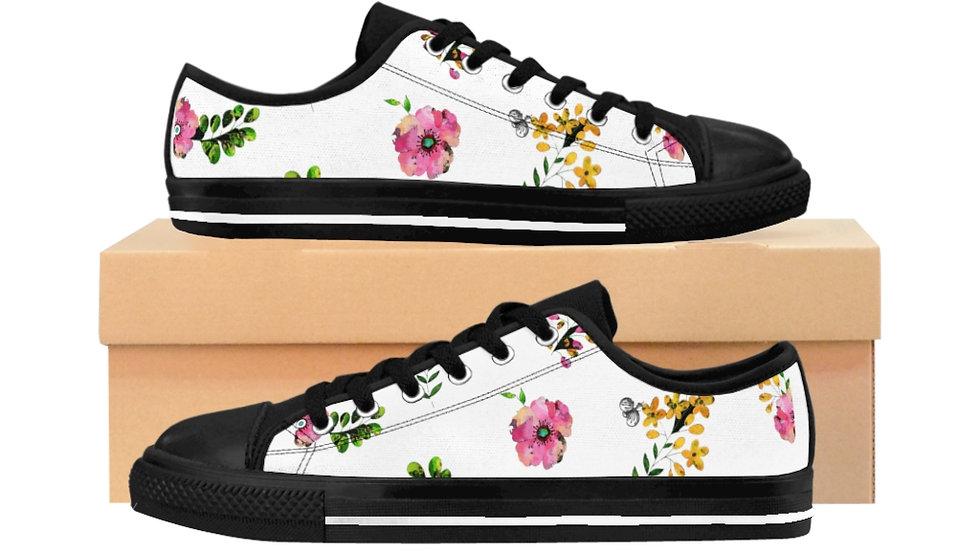 Floral Pattern Women's Sneakers