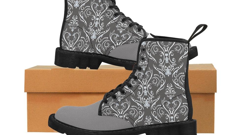 Y Arts Gray Men's Canvas Boots