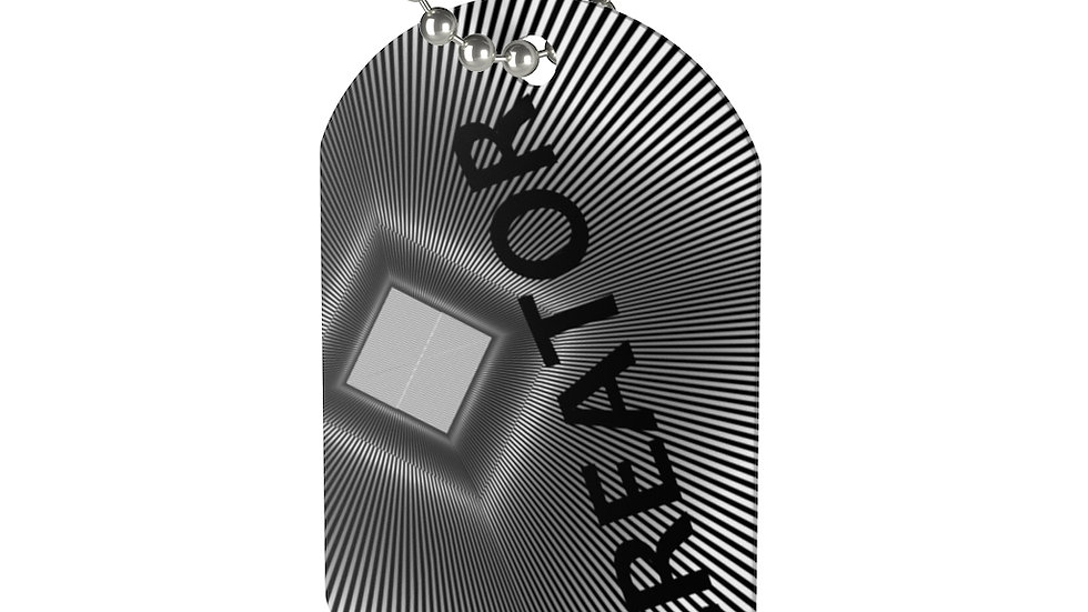 Gray Illusion Creator Dog Tag