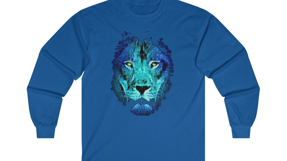Blue Face Lion Ultra Cotton Long Sleeve Tee