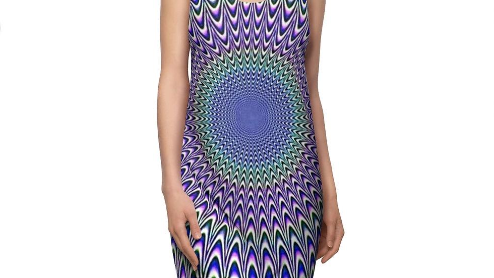 Lavender Optical Vibe  Cut & Sew Racerback Dress