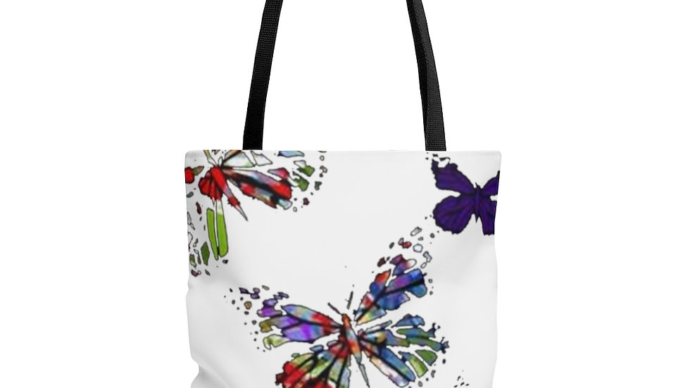 Multi Color Butterfly  Tote Bag