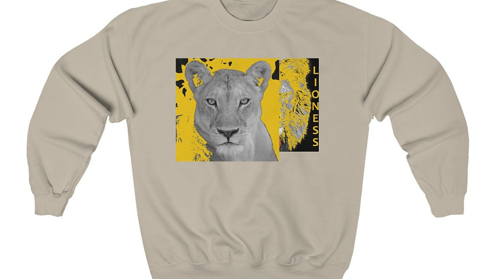 Yellow Lioness Heavy Blend™ Crewneck Sweatshirt