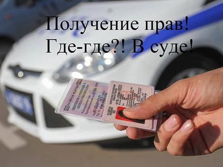 Получение водительских прав через суд