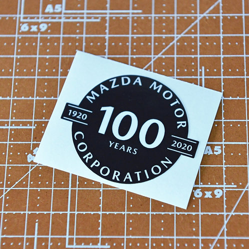 Mazda Motor 100 years Sticker