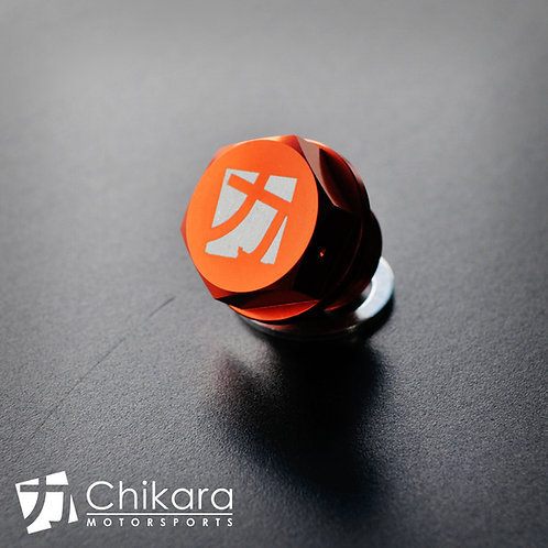 Chikara Orange Aluminum Magnetic Differential Drain Plug