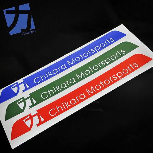 Chikara Windshield banner for NA/NB Miata