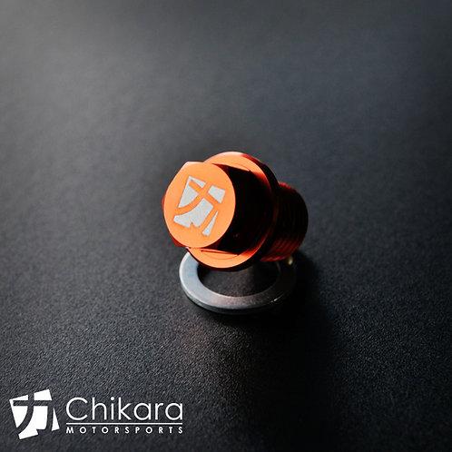 Chikara Orange Aluminum Magnetic Oil Drain Plugs