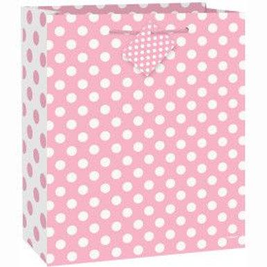 Bag Gift Large Light Pink Dots