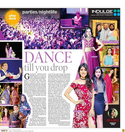 Covered by Indian express Indulge !! at