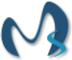 Logo of Maddox Solutions with the letter m enlarged and the letter s overlaping at the right bottom of the letter m.