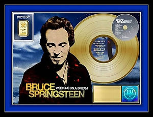 Bruce Springsteen NEW Gold 20 x 24 Layou