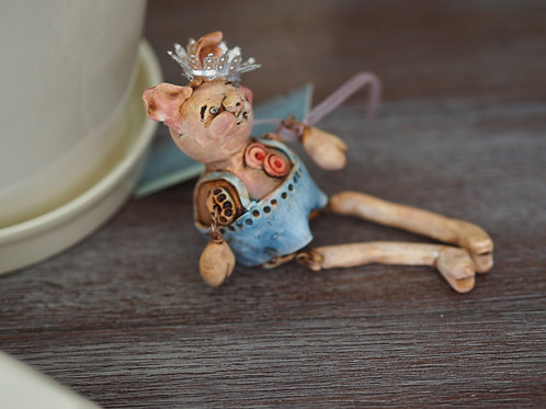 Antiqued Handmade Doll by Jenna Wagner
