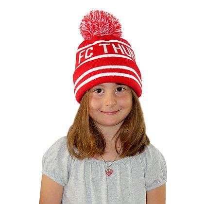 Wintermütze rot/weiss für Kids