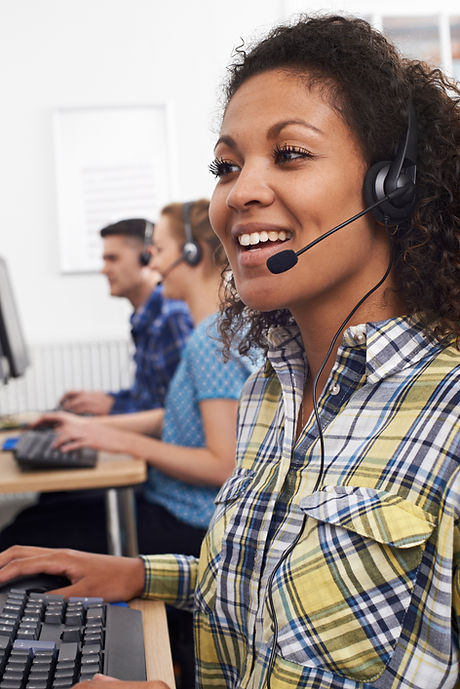 Female Customer Services Agent In Call C