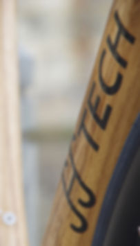 HTech Logo on a Marri Frame