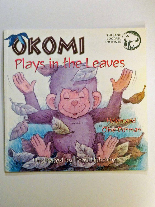 Okomi Plays in the Leaves by Helen and Clive Dorman