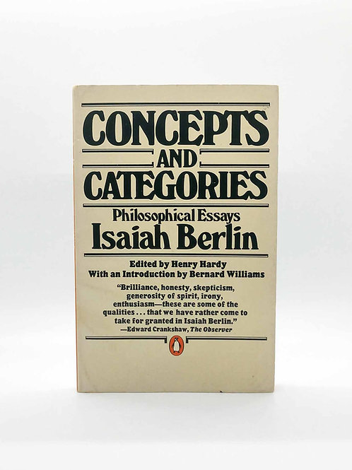 Concepts and Categories by Isaiah Berlin