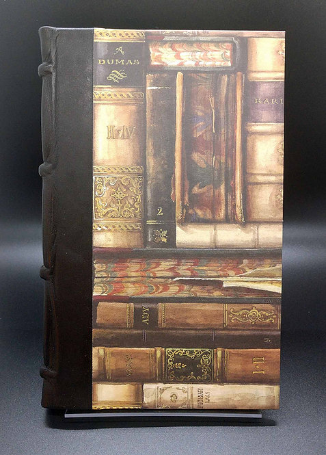 """Bomo Art Half-Leather Bound Lined Journal """"Vintage Books"""" Cover"""