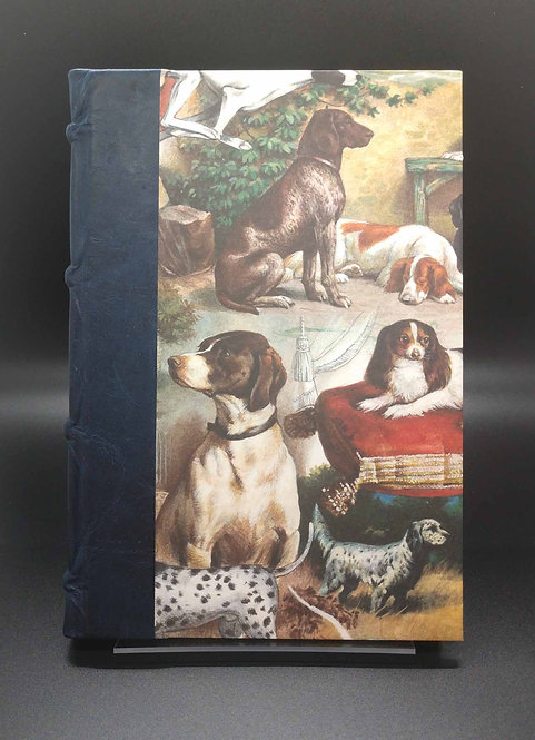 "Bomo Art Half-Leather Bound Journal ""Darling, The Dogs Are Alright"" Cover"