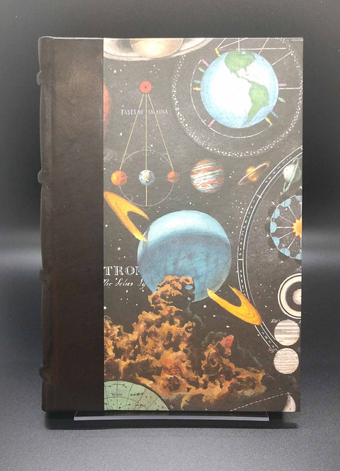 "Bomo Art Half-Leather Bound Journal ""Planetarium"" Cover"