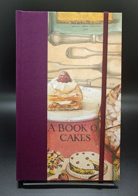 "Bomo Art Half-Fabric Bound Lined Journal ""Cake Factory"" Cover"