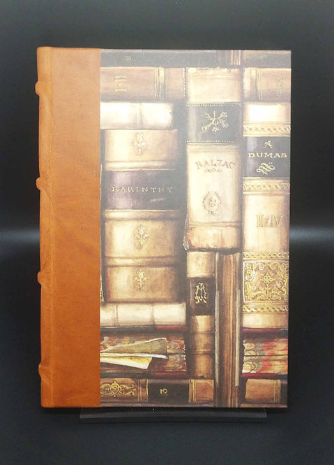 Bomo Art Half-Leather Bound Journal Vintage Books Cover