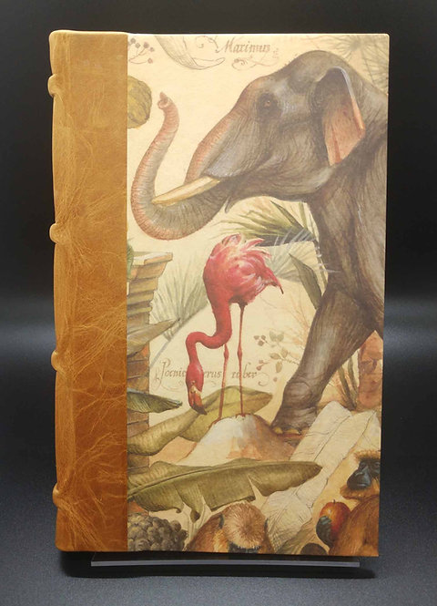 "Bomo Art Half-Leather Bound Lined Journal ""Wild Animals"" Cover"