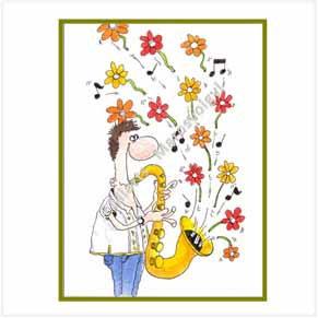 Jazz Musician Saxophone Player