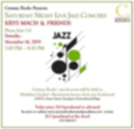 Live Jazz with Krys Mach & Friends Nov.