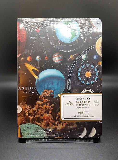 "Bomo Art Soft Bound A5 Size  Notebook ""Planetarium"" Cover"