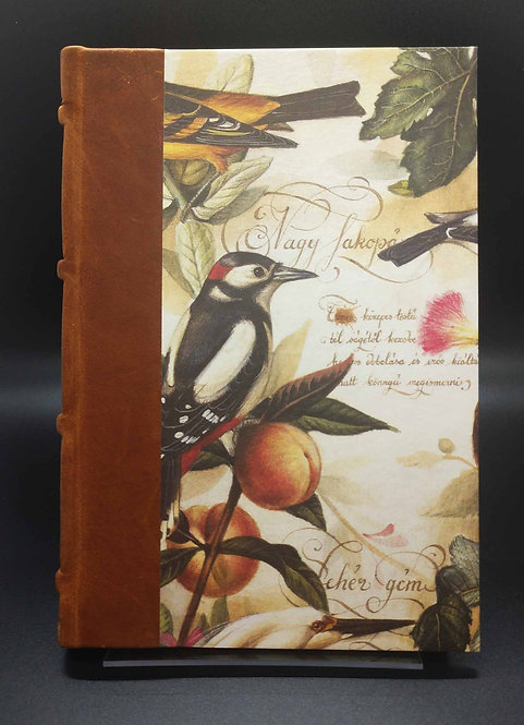 "Bomo Art Half-Leather Bound Journal ""Birds and Fruits"" Cover"