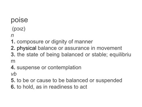 """My Word of the Year:  """"Poise"""""""