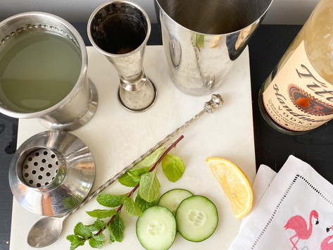 Muddled Mint and Cucumber Cooler