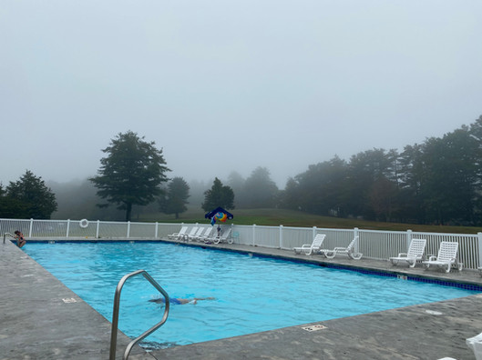 Swimming in the fog
