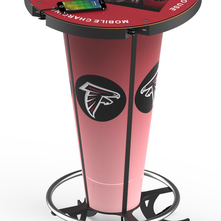 Charge N Go Networks provides a useful service to consumers the LCD cell phone charging table.