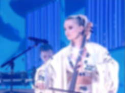 Grace Chatto of Clean Bandit bespoke erevos aether costume glastonbury