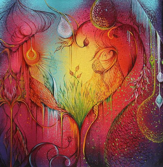 Heartspace - 12 x 12 - Print on Canvas
