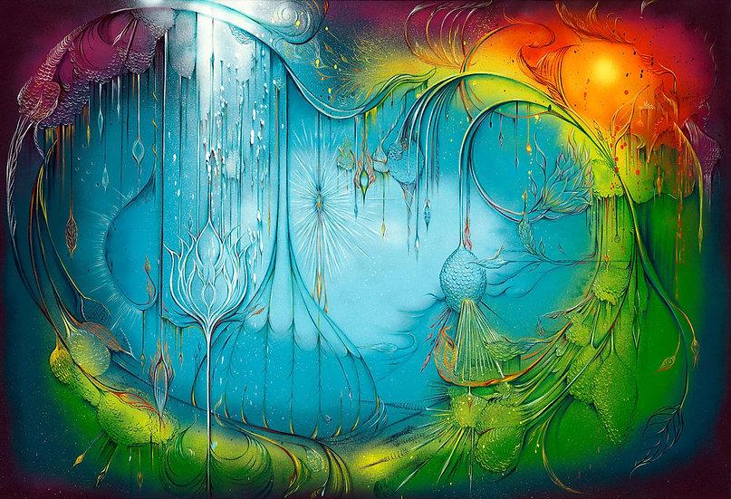 Lotus Love -  30 x 40 - Print on Canvas