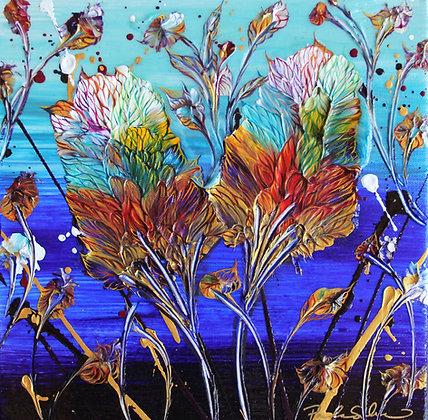 Bamboo Amongst Oaks - 12x12 - Original Painting