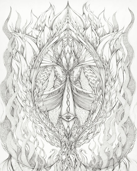 """The Marriage of Heaven and Earth - 44"""" x 32"""" - Print on Paper"""