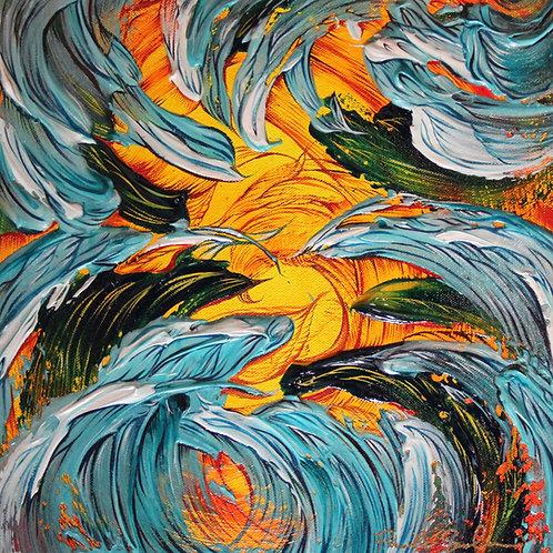 Beautiful Life - 12x12 - Original Painting