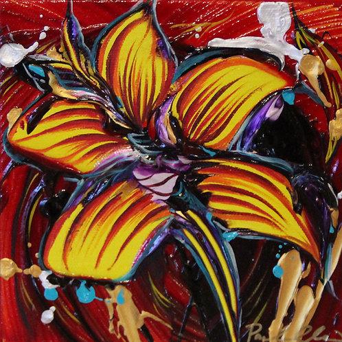 Original Mini Painting - 6x6 - Red