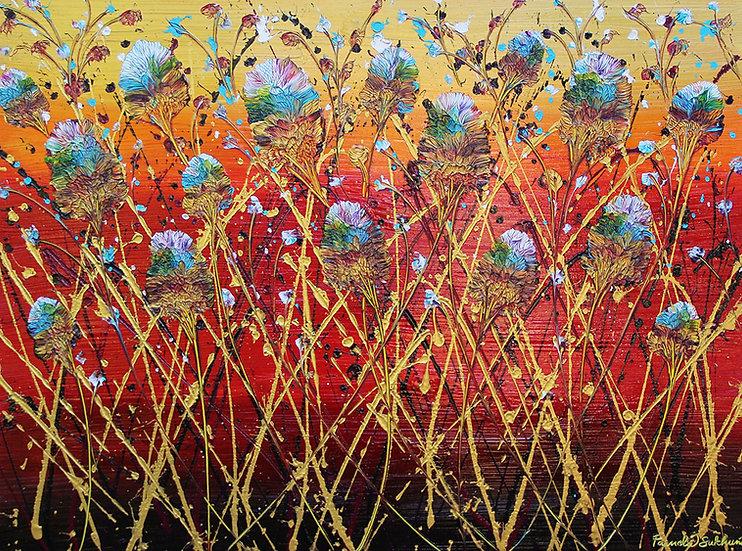 Bamboo Amongst Oaks - 36x48 - Original Painting - SOLD