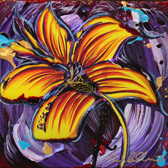 Original Mini Painting - 6x6 - Purple